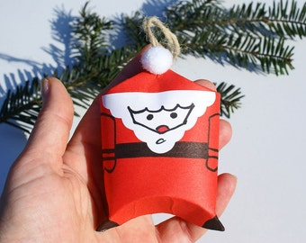 Santa Claus ornament Christmas tree ornaments personalized Christmas décor hanging ornament winter holiday decor Santa ornament xmas tree