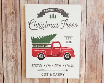 Christmas Truck, Christmas Truck Sign, Christmas Sign Wood, Wood Christmas Sign, Christmas Sign, Rustic Christmas, Holiday Signs