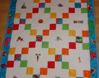 Embroidered Baby Patchwork Quilts