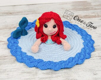 Marina the Mermaid Lovey / Security Blanket - PDF Crochet Pattern - Instant Download - Blankie Baby Blanket
