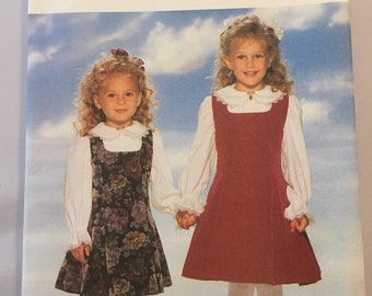4270 Butterick Girls Jumper and Blouse Vintage Sewing Pattern sz 2-4