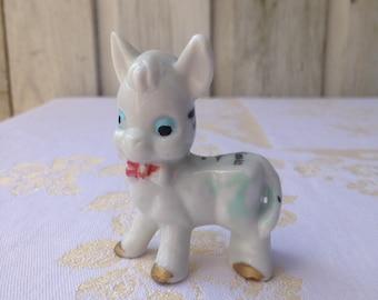 Vintage little donkey, zebra