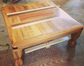 upcycled oak coffee table