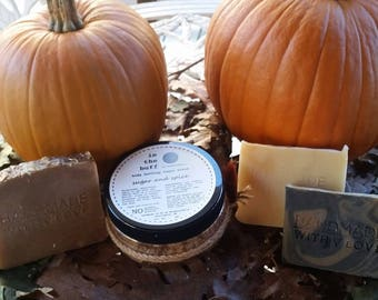 Luxury Fall Bath and Body Gift Set (Handmade and All-Natural)//Autumn Accents Ultimate Gift Set