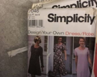 Simplicity Pattern # 7046 Design Your Own Dress / Robe Size 12 14 16