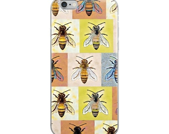 Honey Bees Forever Pattern iPhone Case
