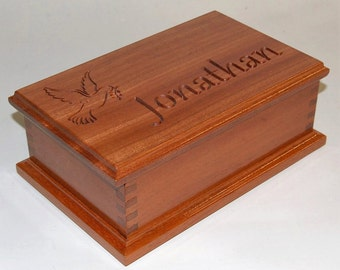 Box - Personalised Wooden Box with Inner Engraving/Scribing