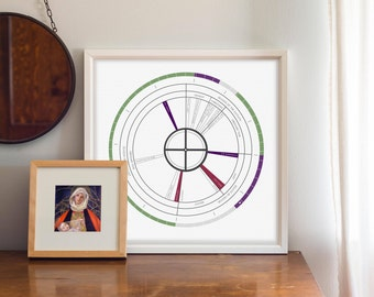 "2018 Liturgical Calendar - Oversized Abstract on Satin White Paper -- 18x18"" Poster -- Gift for Him -- Gift for Her"