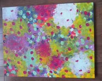 "Original Acrylic Painting on Canvas - ""Dots"""