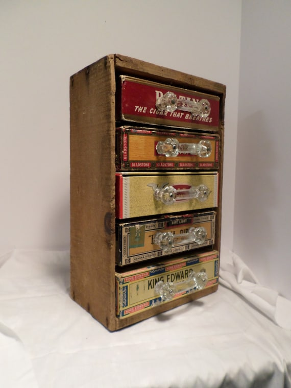 Hand Made Cabinet Storage Unit Made From Vintage Cigar Box