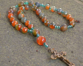 Anglican Rosary  Protestant Prayer Beads  Episcopal rosary   Jubilate Deo Christian Mediation Prayer orig 58 dollars now 46 spring sale