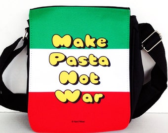 Hetalia Messenger Bag Small: Make Pasta Not War