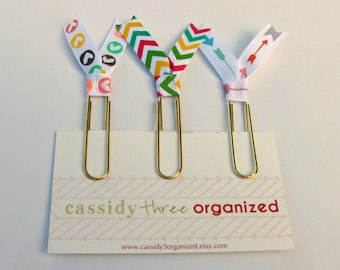 Happy Planning Gold Clips, Planner Clips, Organizer Clips