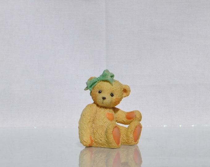 "Vintage Cherished Teddies,""Jacki"", 1991, Priscilla Hillman, Collectible Figurine, Enesco,Teddy Bear Figurine, Vintage Figurine, Teddy Bear"