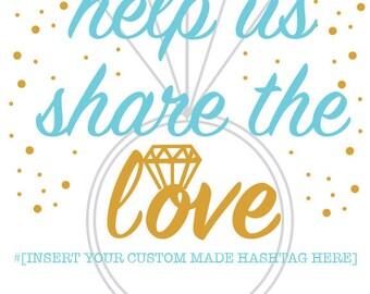 Custom Wedding Hashtag - 5 Options plus sign