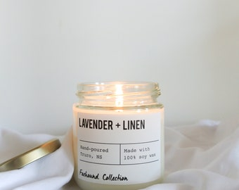 Lavender + Linen soy candle |  natural soy wax | Foxhound  | Candles, Soy Candle Trend Gift Idea Home Decor