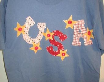 USA Patriotic Large Blue T'shirt