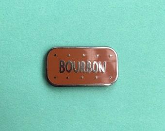 Bourbon Biscuit Enamel Pin / Pin Badge - Flair - Enamel Badge - Cookie Pin