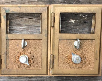 Sale! USPS mail door/ brass mail door/ 1950's post office door/country cottage/french country/fathers day