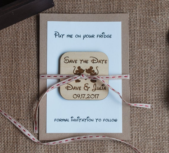 Excellent Mickey and Minnie Save the Date Disney Save the Date Rustic QA41