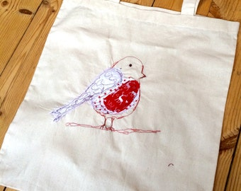 Plump Robin tote bag.
