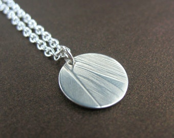 Real Feather Necklace, Sterling Silver Feather Necklace