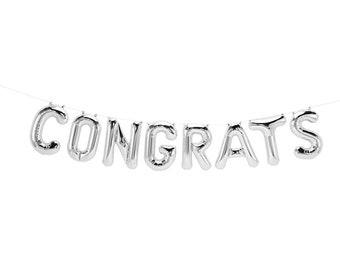 Congrats Grad, Congrats Balloons, Congrats Banner, Grad Decor,Grad Party Decor, Graduation Party, Congrats Banner, Congrats Garland