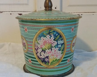 Vintage Candy Tin | Baret Ware Container