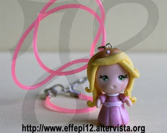 Princess Aurora doll necklace