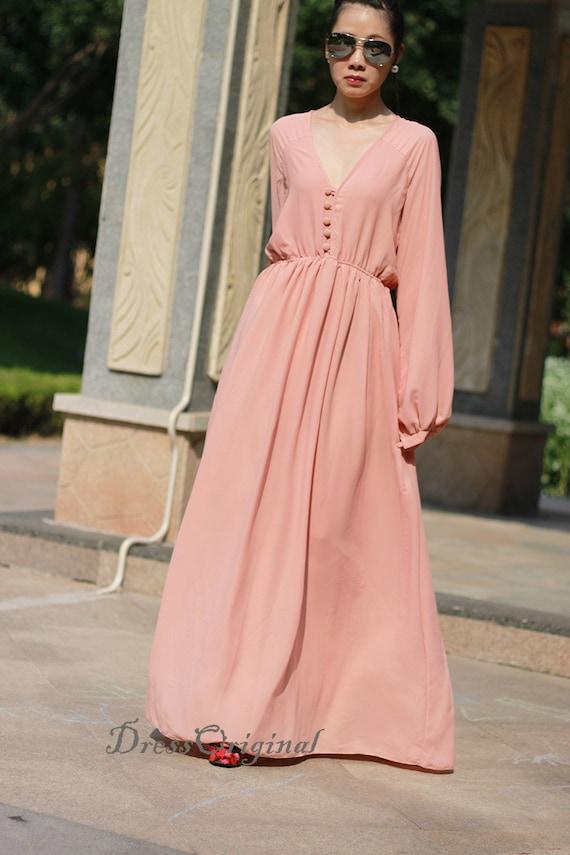 Maxi Kleider Langarm | Kleid & Kleidung