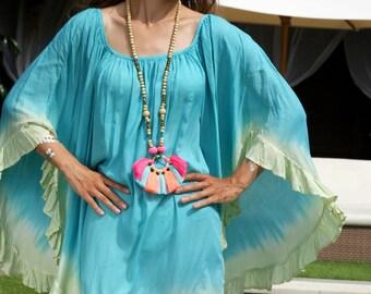 SALE!! Frill Summer Dress/Bohemian Summer dress/Loose fitting Dress/Frill sleeves Dress/Beach wear * MAGICAL DRESS