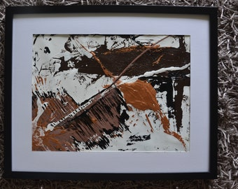 Acrylic Abstract PAINTING With Black Frame