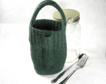 Glass lunch box - 32 oz - green