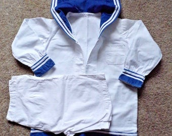 Vintage Childs Navy salior outfit Estimated WWII era