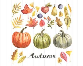 INSTANT DOWNLOAD - Autumn Clipart, Autumn Clipart Svg, Autumn Svg, Autumn, Leaves, Autumn Leaves, Fall Clipart, Autumn Fall Leaves Svg