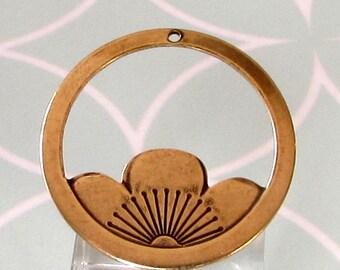 Floating Lotus Pendant, Antique Gold, AG326
