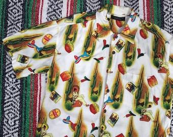 Mexico Print Cotton Shirt