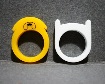 Finn and Jake Adventure Time Ring Set Combo