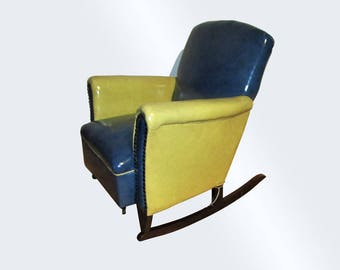 Antique Beautiful Childu0027s Deco Rocking Chair W2246