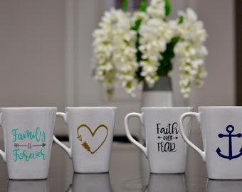 Custom Designed Coffee Mugs (Sold Individually or As Set)