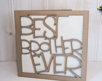 Best Brother Ever Greetings Card