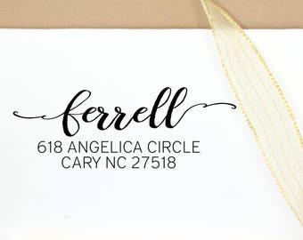 Personalized Return Address Stamp, Wedding Rubber Stamp, Script Custom Address, Housewarming gift