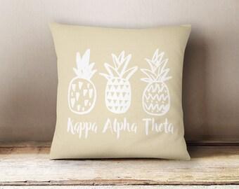 KAO Kappa Alpha Theta Pineapple Pillow Choose Your Pillow Color