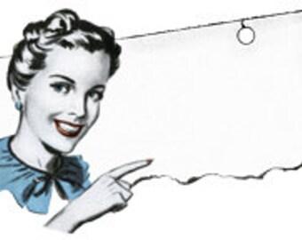 Retro Cartoon Comic  Woman - Vintage Art Illustration - Digital Image - Instant Download