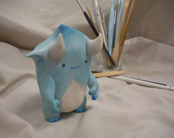 Polymer Clay Cold Blue Imp by LesserBeings