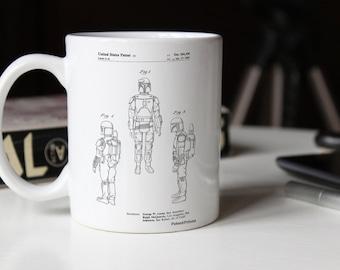 Star Wars Boba Fett Patent Mug, Boba Fett Mug, Starwars Mug, Boba Fett Mug, Star Wars Gift, Star Wars Characters, PP1055