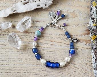 Bracelet d'yoga de Shiva, bijou, bracelet Bohème, bracelet amulette spirituelle, cadeau pour elle, bijoux éthiques