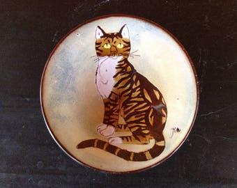 Chelsea Pottery Cat Bowl Joyce Morgan