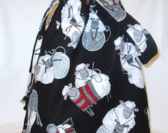 Medium Knitting Project Tote Bag - Do Ewe Knit