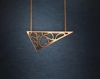 Ciondolo albero della vita/Tree of life pendant/ciondolo traforato a mano/Handmade pierced pendant/Ciondolo in ottone/Brass pendant